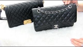 Chanel Old Medium Boy Bag VS Medium Classic Flap