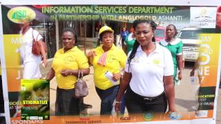 Sickle cell education and free test by the Information Services Department,Obuasi