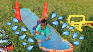 SLIP N SLIDE Water Park at HOME | FamousTubeKIDS