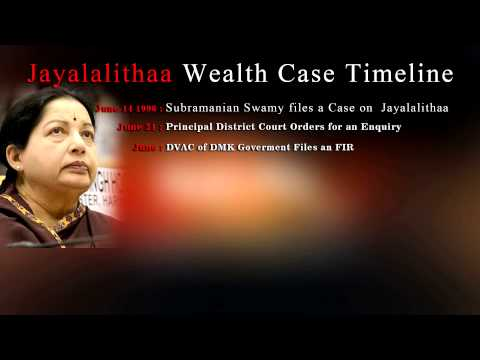 Jayalalitha's wealth case - Judgement  day - a Timeline  must watch- RedPix 24x7 11: 39 a.m: Police resort to mild lathicharge against surging AIADMK supporters.  11: 28 a.m: A refresher about the case and a timeline of events as we wait for the judgment. Read here  We have a series of questions coming in from our readers, our experts are answering them here:  Q from @bhushan_tweets: What does exactly the sec 8(4) of Representation of the People Act say? How is it helping the politicians?  A: The section is no more valid. It has been declared unconstitutional by the Supreme Court. It was earlier used to protect sitting MLAs and MPs. It said when an MLA or MP is convicted while in office, the disqualification normally applicable to others will be deferred for three months. If an appeal is filed in the meantime, the disqualification is automatically stayed. This helped them continue in office without obtaining a favourable order on appeal.  Q: Who becomes next CM if Ms. Jayalaithaa gets convicted?  A: It's anybody's guess. There are many names doing the rounds. Finance Minister O.Panneerselvam, who on a similar occasion earlier became Chief Minister, and Visalakshi Nedunchezhian top the list.  Q: If convicted, can she appeal? Or is this it?  A: She has the right to appeal. This is only a Special Court.  As we wait for the judgement do head over to our live chat with our in-house experts to clarify all your questions on the case.  10: 50 a.m: A large number of AIADMK supporters arrive in Bangalore.  10: 40 a.m: Five Ministers whose vehicles were stuck in a traffic jam are walking towards the venue : O. Paneerselvam, Power Minister Nattam Vishwanatham, Housing board Minister Vaidyalingam, Highways Minister Yedapadi Palaniswamy, Rural Development Minister Pa. Mohan  10: 38 a.m: Chief Minister Jayalalithaa arrives at the Bangalore Court complex clad in a green saree, considered lucky for her. With her were close aide Sasikala, VN Sudhakaran and J Ilavarasi.  www.bbc.co.uk