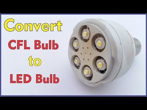 Convert Old broken CFL to LED Bulb