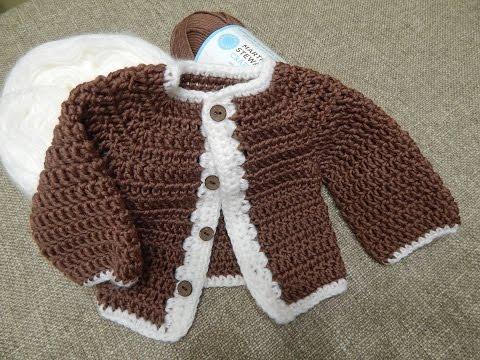 Su ter para ni o 0 3 meses youtube - Tejer chaqueta bebe 6 meses ...