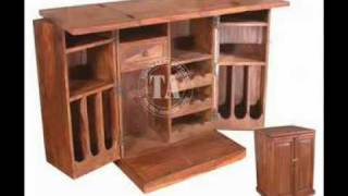 Furniture Wooden Wine Rack Indian Furniture & Handicraft Manufacturer And Exporter Bar Furniture