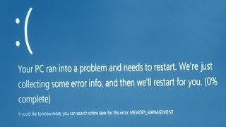 Memory Management Error in Windows 10 Blue Screen Errors (Solved)