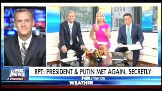 Lewandowski repeatedly mentions how beautiful Melania Trump is during Fox segment