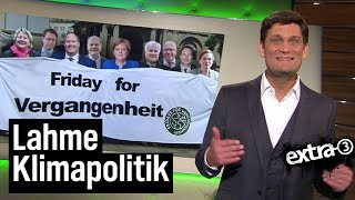 Klimakabinett: Friday for Vergangenheit