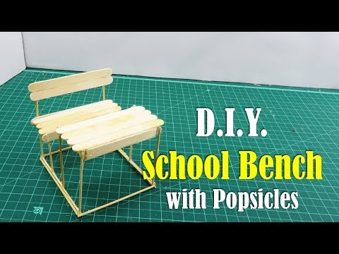 DIY: School Bench with Popsicles - How to Make
