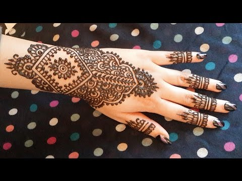 Indian Bridal Henna Simple And Easy Mehendi Design Wedding
