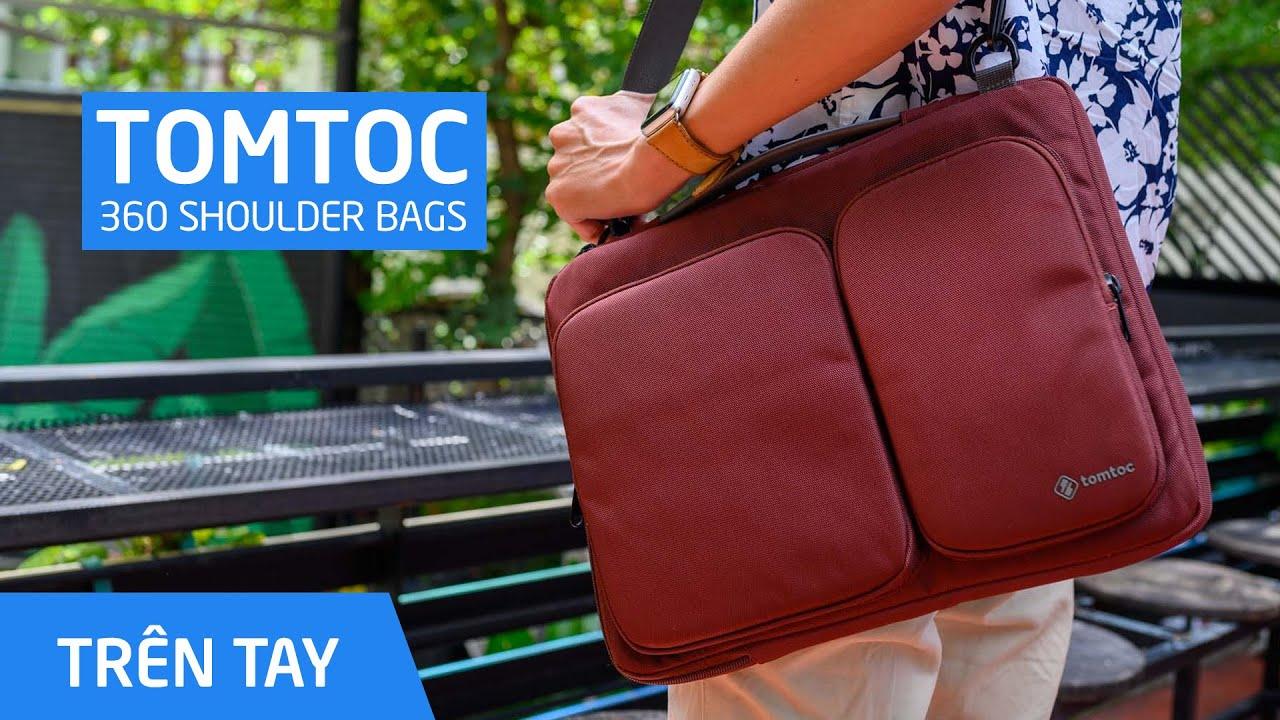 TOMTOC 360 Shoulder Bags: lai giữ túi chống sóc và túi đeo chéo!