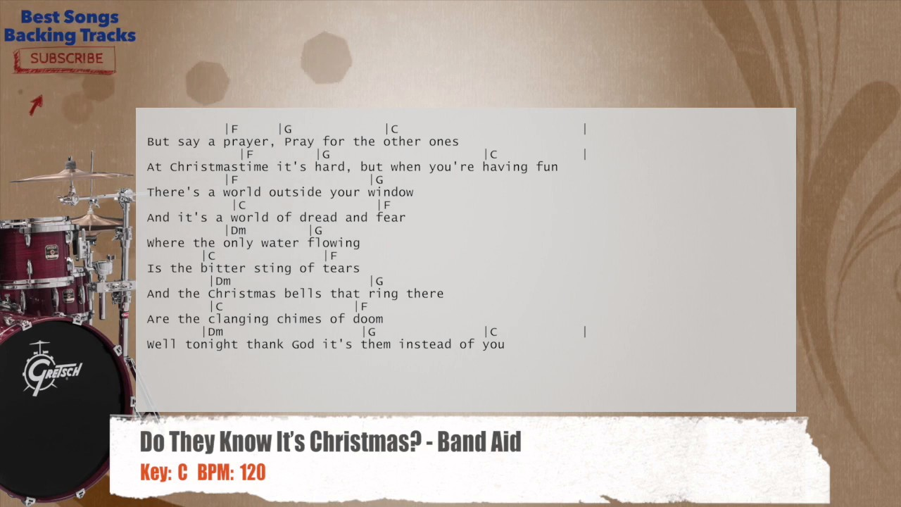 Do They Know It\'s Christmas? - Band Aid Drums Backing Track with ...