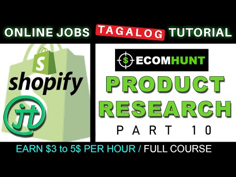 Shopify Ecomhunt Product Research Tutorial Online Jobs At Home Philippines Tagalog thumbnail