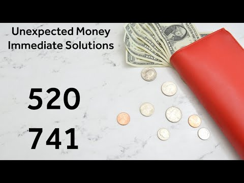 Grabovoi Numbers - Unexpected Money / Immediate Solution - 520 741