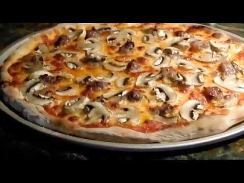 Home Cooking Pizza With Sausage & Mushrooms