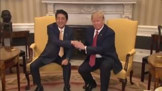 Trump vs Obama awkard handshakes