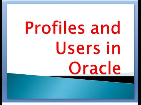 Security of Users in Oracle to assign Profiles