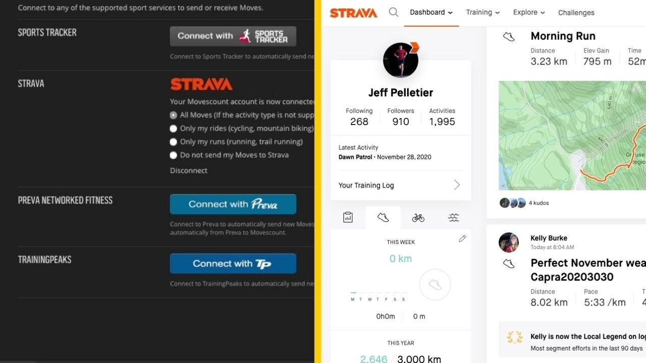 How to Connect Movescount to Strava