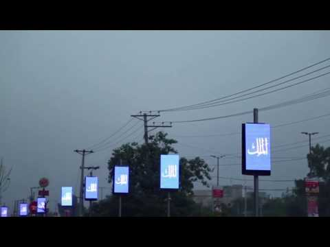 Street Lamp Post Led Sign Street Pole Banner Led Panel Street Pole Advertising Led Screen Youtube