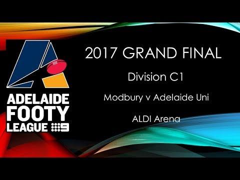 Adelaide Footy 2017 Grand Final - C1 Modbury v Adelaide University