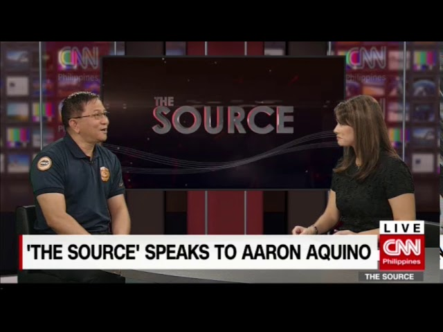 'The Source' speaks to PDEA Gen. Aaron Aquino