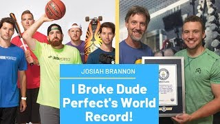 I Broke Dude Perfects World Record! | Longest Basketball Shot Made with your Head | Josiah Brannon