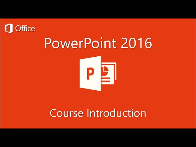 Microsoft Powerpoint 2016 Tutorials