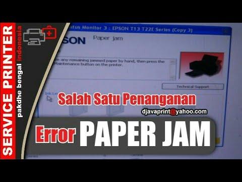 Printer epson error paper jam, printer epson blink paper jam, printer epson  lampu merah nyala dan pa