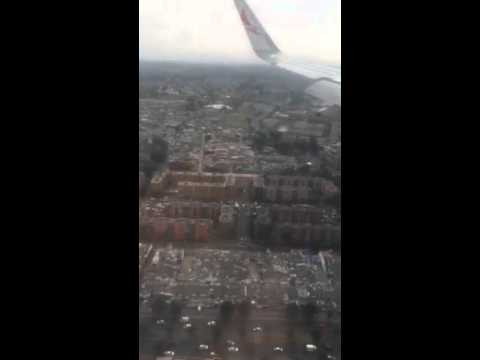 Landing in Bogota ,messy land