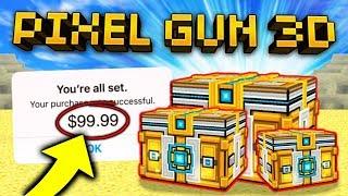$100 EXPENSIVE CHEST OPENING! I WON ALL GUNS + THE SECRET GUN! | Pixel Gun 3D [New Update]