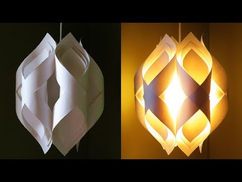 Ogee paper lamp - how to DIY an elegant paper pendant lamp/lantern - EzyCraft