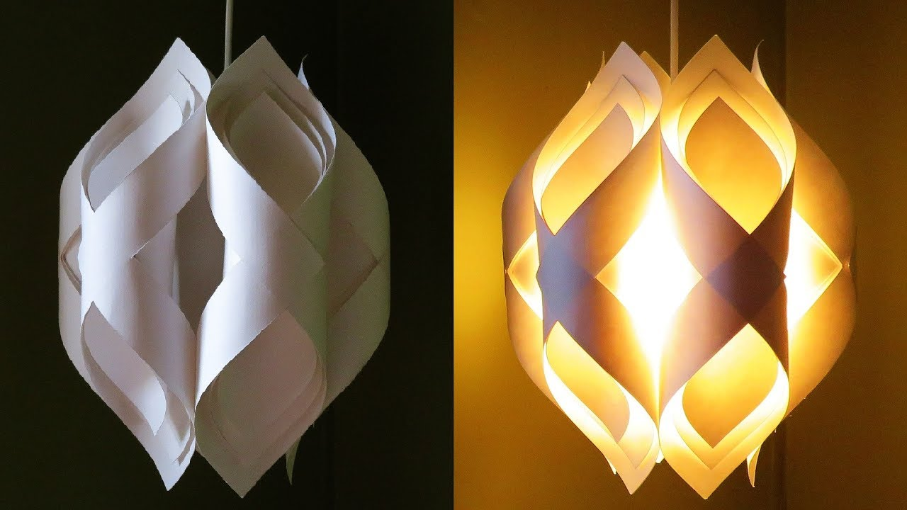 Ogee paper lamp - how to DIY an elegant paper pendant lamp ...
