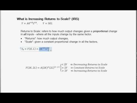 What is Increasing Returns to Scale (IRS)?   - Intermediate Macroeconomics
