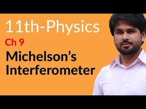 First Year Physics Michelson's Interferometer - Physics Chapter 9 Physical Optics- FSC Part 1