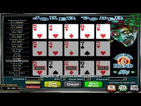 Desert Nights Casino  Joker Poker 3 Hand Video Poker