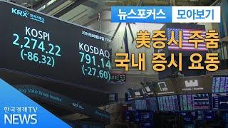 美증시 주춤…국내 증시 요동 / 한국경제TV