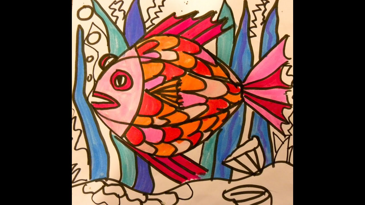 Kid Can Draw:Easy Fish 1st grade - YouTube