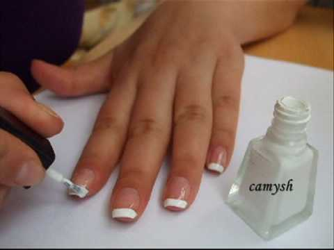 French Manicure Nail Art Tutorial Youtube