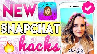 10 NEW Snapchat Hacks!! Boomerang, Custom Snapcode, etc!