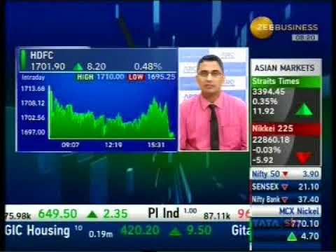 Positive on HDFC Ltd and HDFC Bank- Mr. Mayuresh Joshi, Zee Business, 22nd December