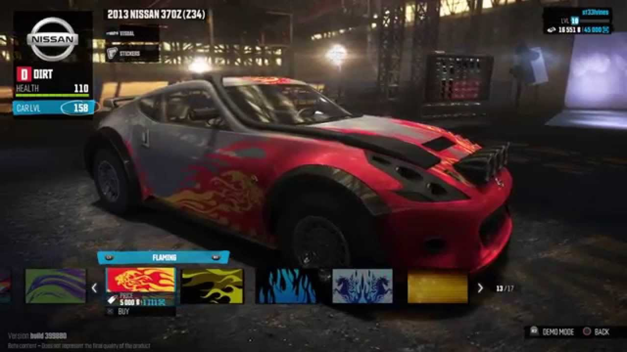 Nissan 370z Dirt Spec Customisation   The Crew BETA