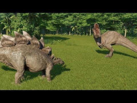 Stegosaurus VS T-Rex - Jurassic World Evolution letöltés