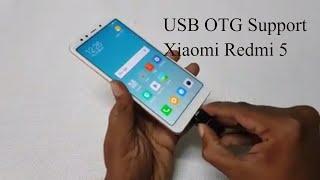 Xiaomi Redmi 5 USB OTG Support