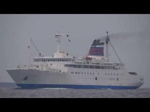 [船]OGASAWARA MARU おがさわら丸 Passenger ship 客船 Tokyo Port 東京港入港 2013-APR