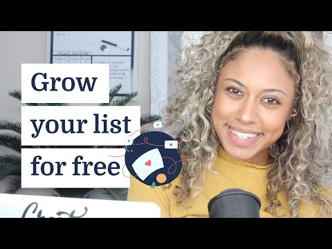 How to grow your email list for free