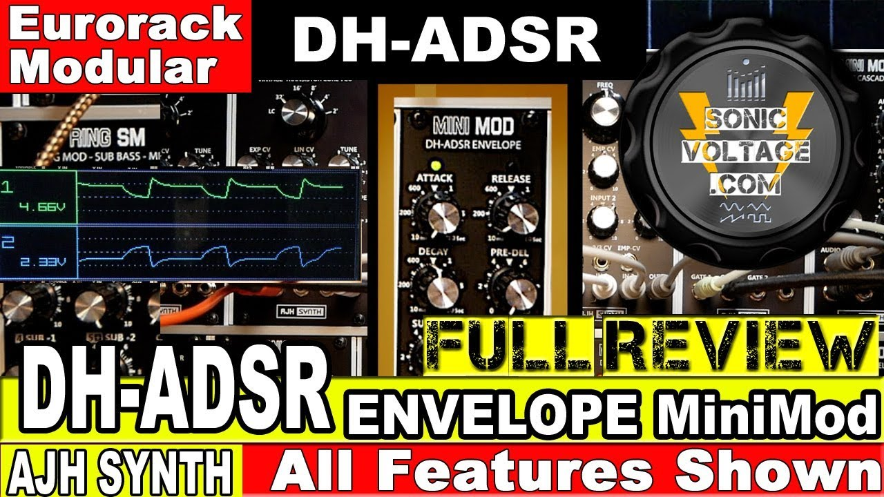 ajh synth dh adsr envelope minimod review eurorack modular envelope module for modular synth. Black Bedroom Furniture Sets. Home Design Ideas