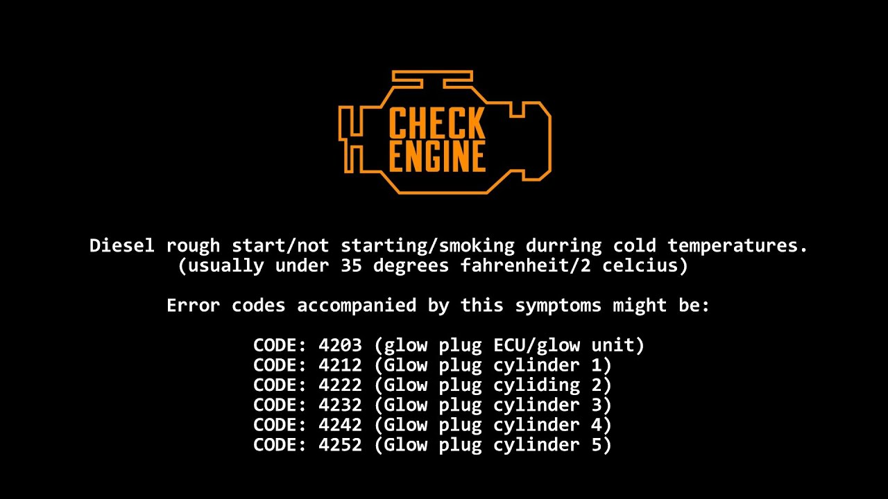 SOLVED BMW Diesel rough / no start / FIX / cold temperatures glowplugs  4203/ P0670 / fault codes