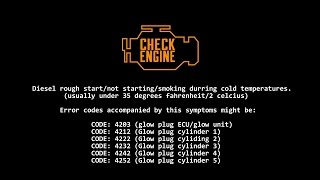 solved bmw diesel rough no start fix cold temperatures glowplugs 4203 p0670 fault codes