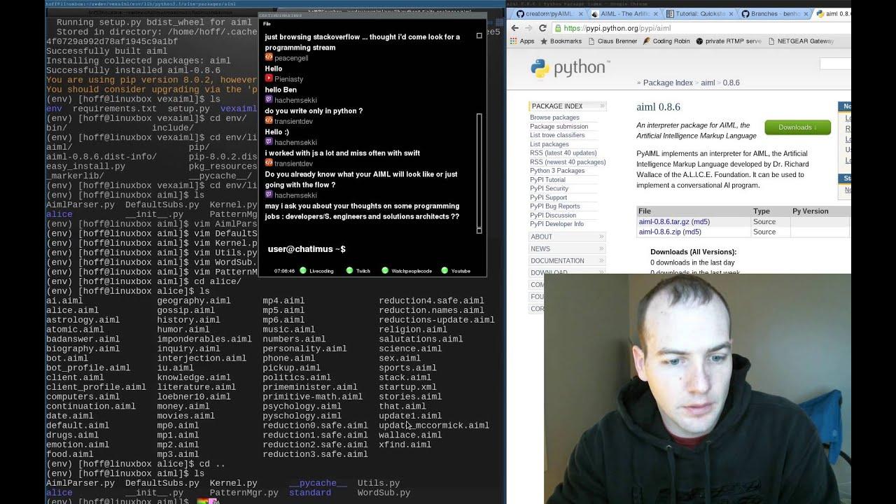 Artificial Intelligence Markup Language (AIML) w/ python and zeromq