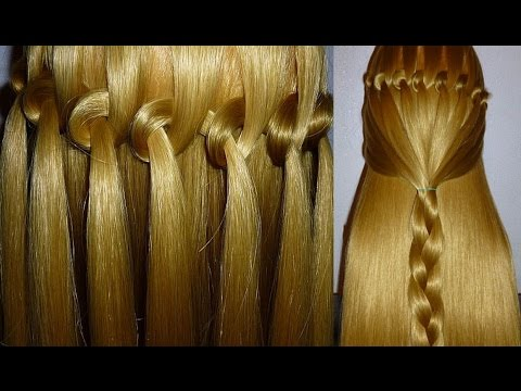 Loop Waterfall Braid Hairstyle Hair Tutorial For Beginners