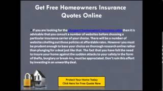 Homeowners Insurance Quotes Online Instant