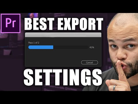 Best Video Export Settings Adobe Premiere Pro CC 2020 For Youtube